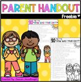 Parent Handout Freebie