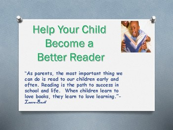 Parent Handout Help Your Child Become a Better Reader