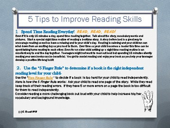 Parent Handout: Help Your Child Improve Literacy, Math and Homework Skills