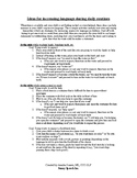 Parent Handout: Ideas for Increasing Language in the Home