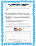Parent Handout - Importance of Speaking Native Language to