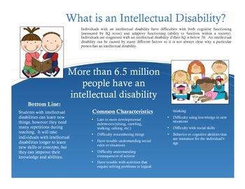Special Education Parent Handout: Intellectual Disabilities