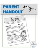 Parent Handout: Jargon - FREEBIE!!