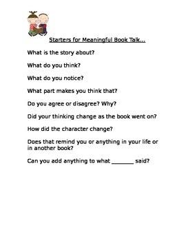 Parent Handout - Meaningful Book Talk