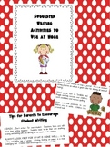 Parent Handout-Suggested Writing Activities to Use at Home