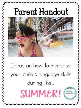 Parent Handout- Summer