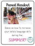 Parent Handout- Summer
