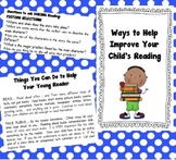 Parent Handout-Ways to Help Improve Your Child's Reading