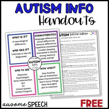 Parent Handout: What is Autism?