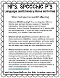 Parent Handout for What to Expect at an IEP Meeting