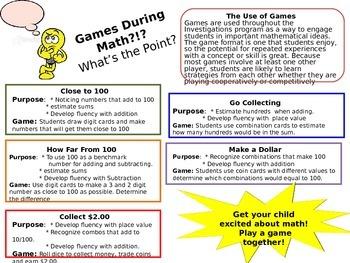 Parent Handout on Math Games