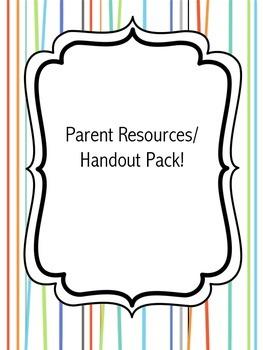 Parent Handout/Resources Pack
