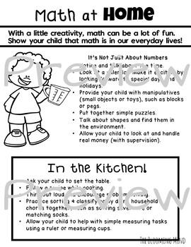 Parent Handouts for PreK, Preschool