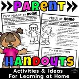 Parent Handouts for Preschool Distance Learning