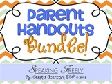 Parent Handouts Bundle!