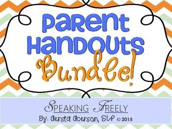 Parent Handouts Bundle!