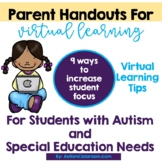 Autism Parent Handouts - Increasing Focus of Students with Autism