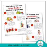 Parent Handouts: Toys to Increase Speech & Language Skills