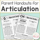 Articulation Handouts for Parents & Teachers