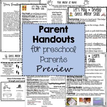 Parent Handouts for Preschool Parents