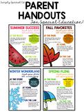 Parent Handouts for Special Education