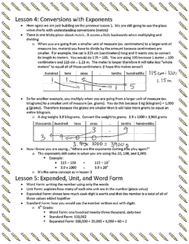 Parent Help Guide-Engage NY Module 1 Lessons 1-6 (Decimals)