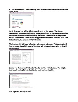 Common Core Math Homework Help: How to see lesson plans and sample problems