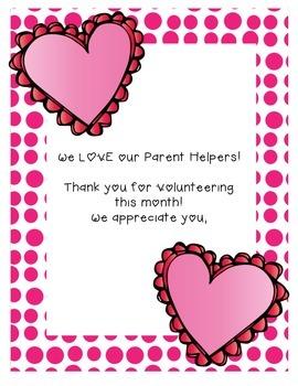 Parent Helper Thank You's