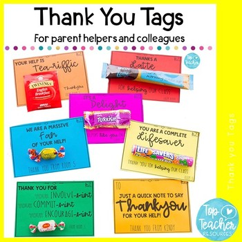 Parent Helper Thankyou Gift Tags