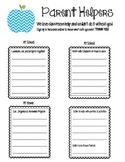 Parent Helpers and Volunteer Sign Up Sheet