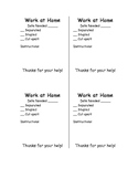 Parent Helpers from Home - Directions page