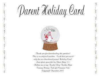 Parent Holiday Card