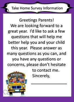 Parent Home Survey