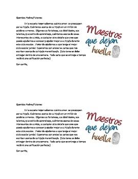 Parent Homework-English and Spanish