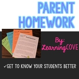 Parent Homework - Get to know your students!