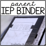 Parent IEP Binder - Editable ( Black and White ) IEP Companion
