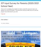 Parent IEP Information Survey
