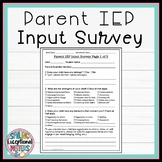Parent IEP Input Survey