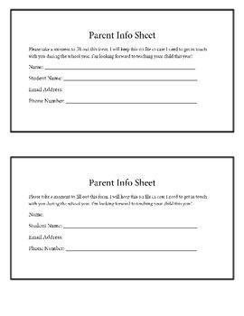 Parent Info Form