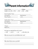 Parent Infoirmation