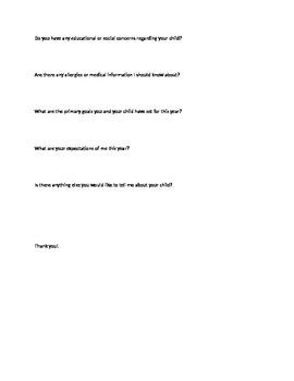 Parent Information Student Survey