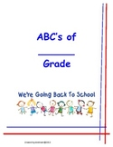 Parent Information--ABC's of (insert your grade here) Grade