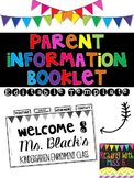 #TPTFIREWORKS Parent Information Booklet Template {5 Tabs}- EDITABLE TEXT