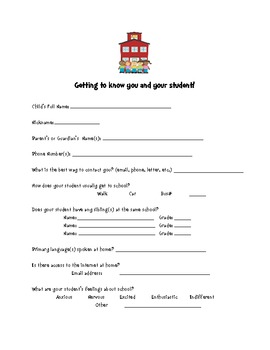 Parent Information Handouts
