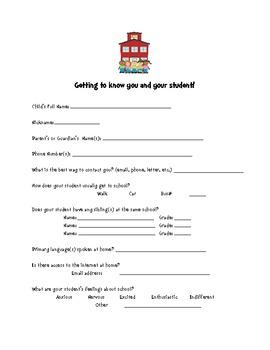Parent Information Handouts