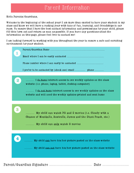 Parent Information Letter