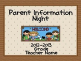 Parent Information Night Power Point Template - Camping Theme