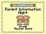 Parent Information Night Power Point Template - Monkey Theme
