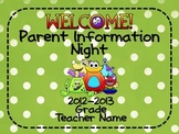 Parent Information Night Power Point Template - Monster Theme