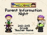 Parent Information Night Power Point Template - Pirate Theme